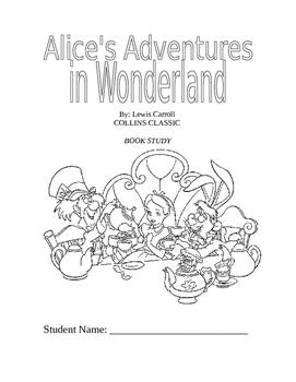 Alice's Adventures In Wonderland Book Study / Novel Study