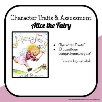 Alice the Fairy Character Traits/Feelings & Assessment