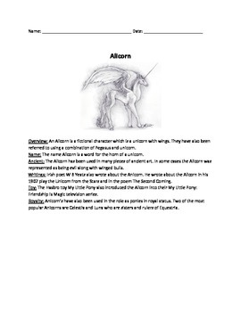 Alicorn - Review Article - Questions - Mythical creature -