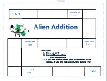 Alien Addition Game