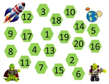 Alien Counting Math Board
