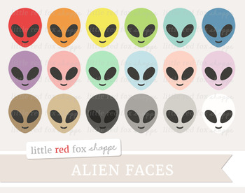 Alien Face Clipart; Outer Space