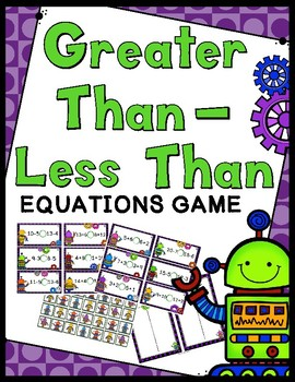 Greater Than / Less Than - Comparing Equations Game
