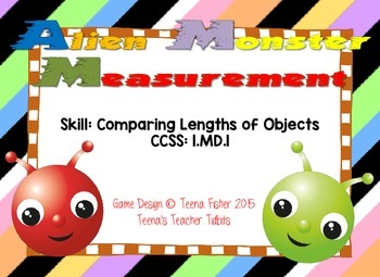 Alien Monster Measurement Comparing Lengths of Objects