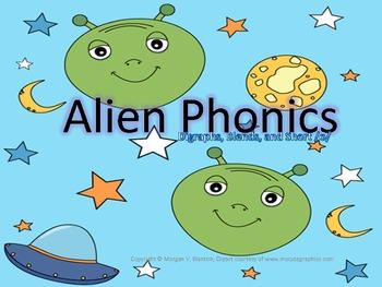 Alien Phonics Short O Word Families