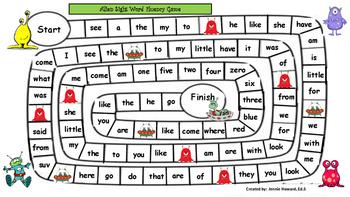 Alien Sight Word Fluency Game
