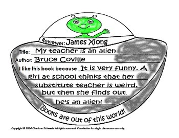 Alien UFO Book Report