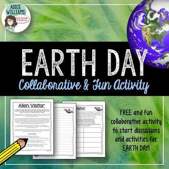 "Earth Day - ""Alien Visitor"" Collaborative Activity - FREE"