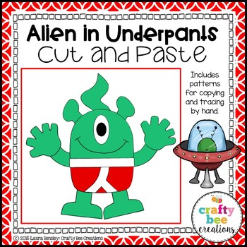 Alien in Underpants Cut and Paste