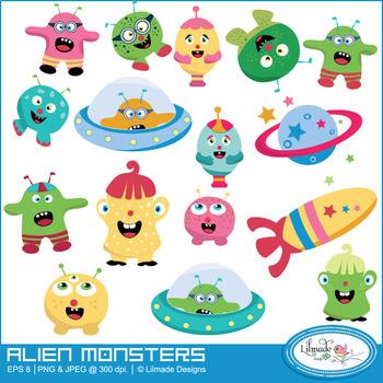Monsters clip art, monster clip arts