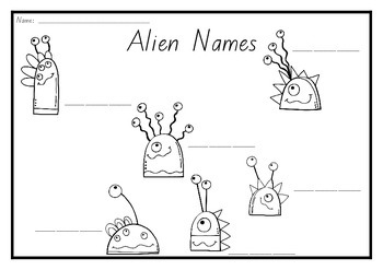 Alien nonsense words