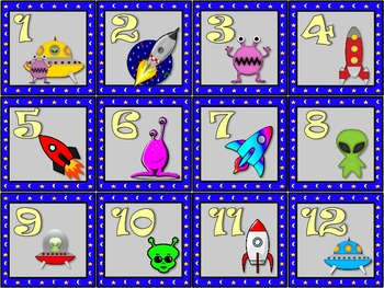 Aliens and Space calendar set