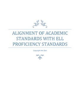 Alignment of Academic Standards with ELL Proficiency Stand
