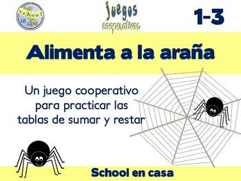 Alimentar a la araña: Cooperative Game with Addition & Sub