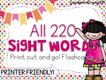All 220 Sight Words Flashcards