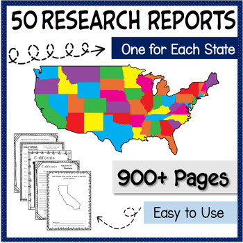 50 States Research Report Project Bundle