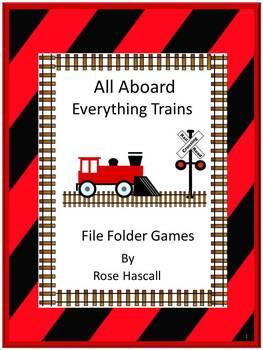 Trains File Folder Games Pre-K, Kindergarten, Special Educ