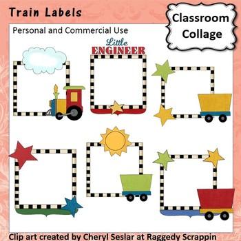 All Aboard Train Labels C. Sesler