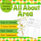 Area Common Core 3rd Grade Math 3.MD.5, 3.MD.6, 3.MD.7