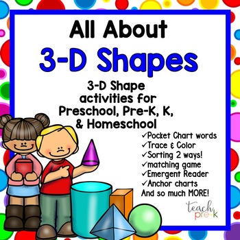 All About 3-D Shapes for Preschool, Pre-K, Kindergarten &