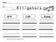 Alligators, Writing Activities, Graphic Organizers, Diagram