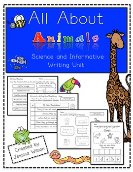 All About Animals - Science & Informative Writing Unit