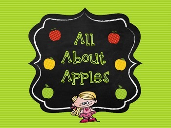 All About Apples - Apples Activities