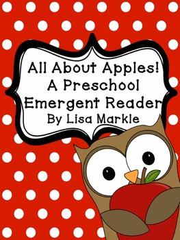 All About Apples Emergent Reader for Preschool and Kindergarten