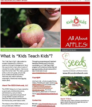 "All About Apples: ""Kids Teach Kids"" video and curriculum guide #1"