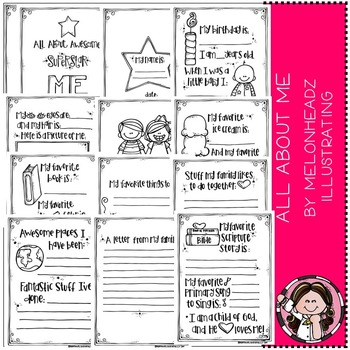 Melonheadz: All About Awesome Superstar Me Printable book