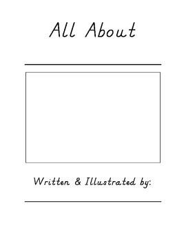 All About Book Template (D'Nealian)
