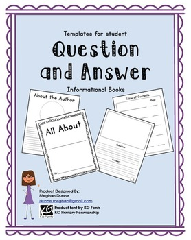All About Books- Question and Answer Format