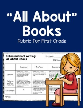 """All About"" Books Rubric for First Grade"