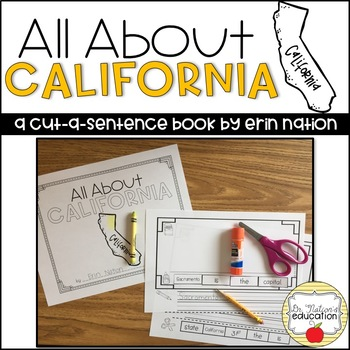 """All About California"" a cut-a-sentence book"