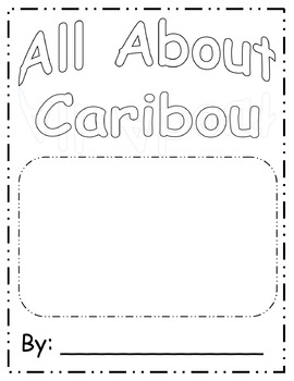 All About Caribou Book Template