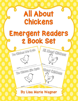 All About Chickens Emergent Readers 2 Book Set