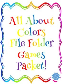 All About Colors File Folder Packet
