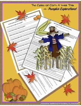 All About Corn Web Trek &  Pumpkin Explorations!