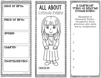 All About Cynthia Rylant - Biography Research Project - In