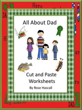 Family All About Dad NO PREP Math and Literacy Cut and Pas