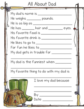 All About Dad Questionnaire