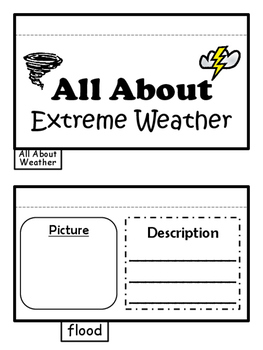All About Extreme Weather Foldable Science Interactive Not