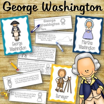 All About George Washington Posters and Book to Create