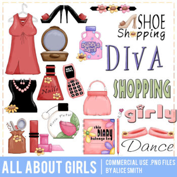 All About Girls Clip Art Graphics