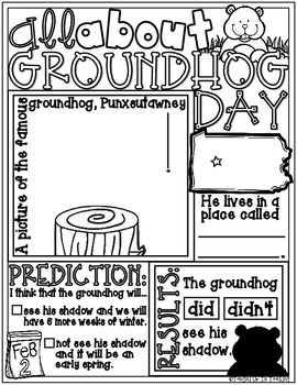 All About Groundhog Day Poster: A February Holiday Activity