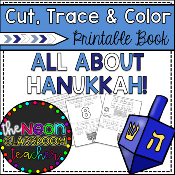 """All About Hanukkah"" Cut, Trace & Color Printable Book!"