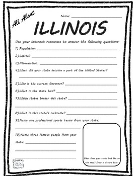 All About Illinois - Fifty States Project Based Learning W