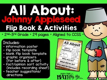 All About: Johnny Appleseed Flip Book & Activities