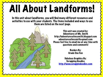 All About Landforms