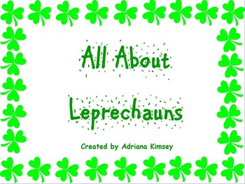 All About Leprechauns for Kindergarten + Pot of Gold Craft